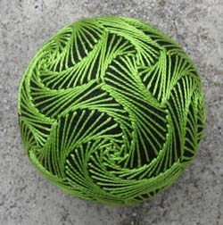 Green Swirl Ball