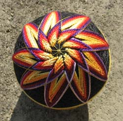Spinning Fire Temari Ball