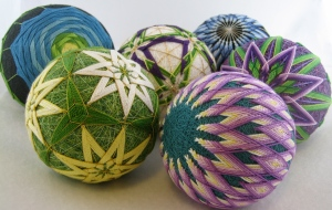A selection of temari
