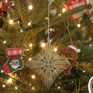 Dana House ornament and Santa stocking