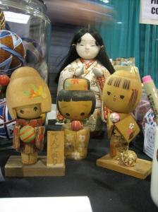 Vintage dolls with temari