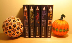 Halloween temari with the October Daye books