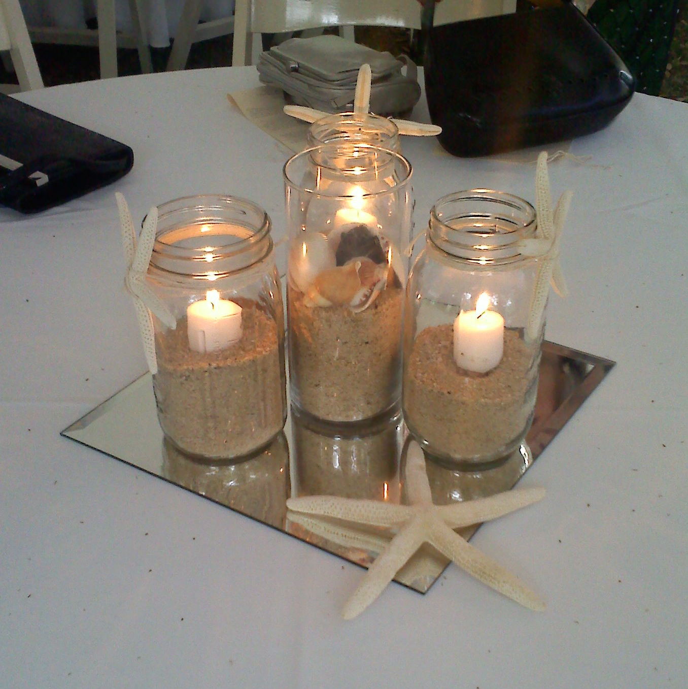 Temari zack and kellys seaside wedding from my wandering mind table centerpiece junglespirit Images