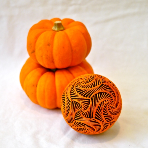 Pumpkin Swirl with pumpkins