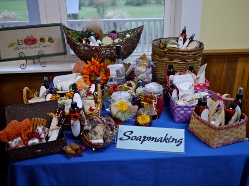 The extremely productive soapmaking class showcase