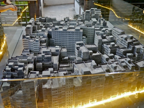 Kowloon Walled City reconstructed model.